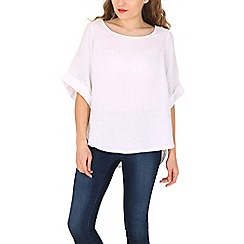 Amaya - White relaxed fit linen top