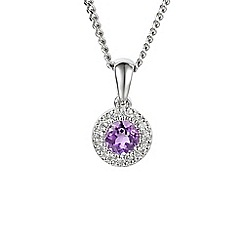 Amore Argento - Purple sterling silver cluster necklace