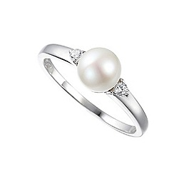 Amore Argento - Silver full moon cluster ring