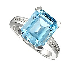 Amore Argento - Blue lagoon cushion ring