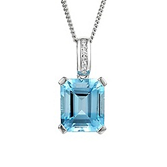 Amore Argento - Blue cut shape necklace