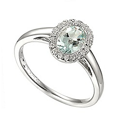 Amore Argento - Silver aquamarine cluster ring
