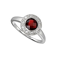 Amore Argento - Red round garnet cluster ring