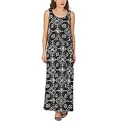 Izabel London - Black aztec printed maxi dress
