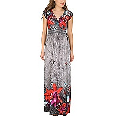 Izabel London - Grey floral urban maxi dress