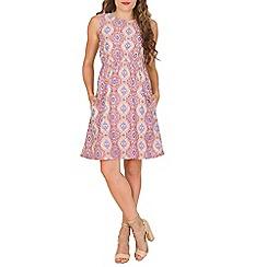 Mela - Multicoloured geometric mirrored dress