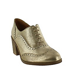 Marta Jonsson - Gold  block heeled brogue