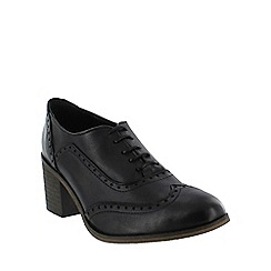 Marta Jonsson - Black  block heeled brogue