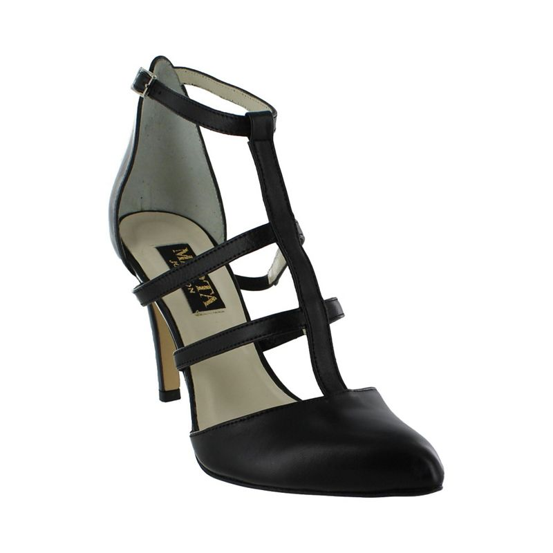 Marta Jonsson Black strappy court shoes