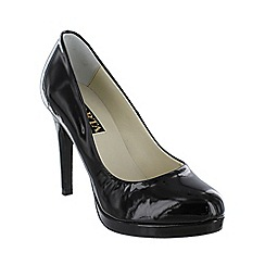 Marta Jonsson - Black patent snake effect court shoe