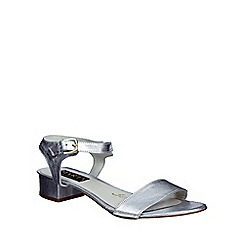 Marta Jonsson - Silver  low heel sandal with buckle