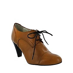 Marta Jonsson - Brown high heeled lace up shoe
