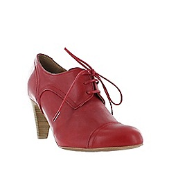 Marta Jonsson - Red high heeled lace up shoe