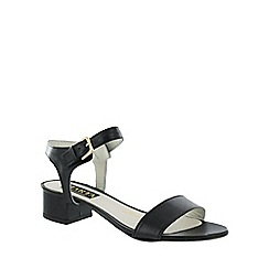 Marta Jonsson - Black  low heel sandal with buckle