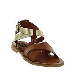 Marta Jonsson - Tan  x-strap flat sandal