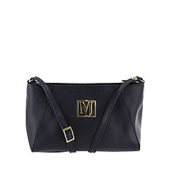 Marta Jonsson - Navy across body bag with mj golden detail