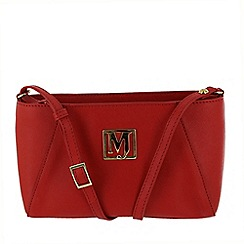 Marta Jonsson - Red across body bag with mj golden detail