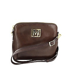 Marta Jonsson - Brown across body bag with mj golden detail