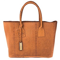 Marta Jonsson - Brown snake leather grab bag