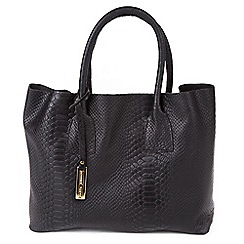 Marta Jonsson - Black snake leather grab bag