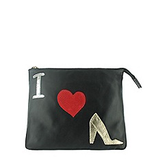 Marta Jonsson - Black leather zipped clutch bag