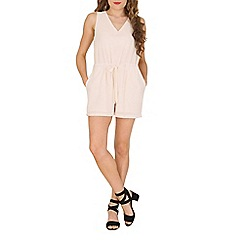 Oeuvre - Cream v-neck beautiful playsuit