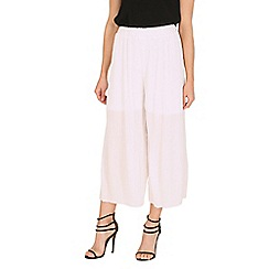 Oeuvre - White pleated culottes