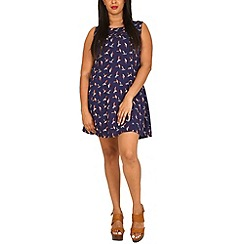Samya - Navy bird print dress