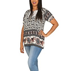 Samya - Black tribal print top