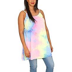 Samya - Multicoloured tie dye vest