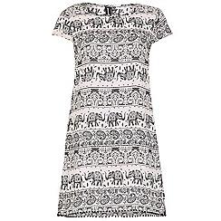 Izabel London - Black elephant print tunic dress