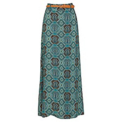 Izabel London - Green long pattern maxi skirt