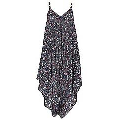 Izabel London - Navy floral print jumpsuit