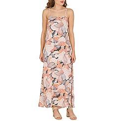 Voulez Vous - Peach sleevless floral maxi dress
