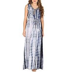 Voulez Vous - Navy embellished tie dye maxi dress
