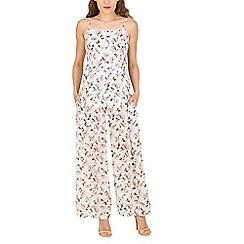 Tenki - Green flower print jumpsuit