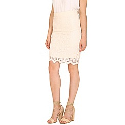 Tenki - Cream lace midi skirt