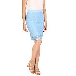 Tenki - Blue lace midi skirt