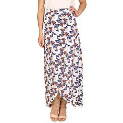 Tenki - White leaf print maxi skirt