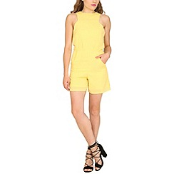 Cutie - Yellow square armhole playsuit