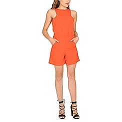 Cutie - Orange square armhole playsuit