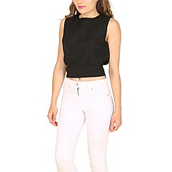Cutie - White grid textured top