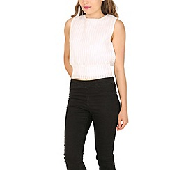 Cutie - Black grid textured top