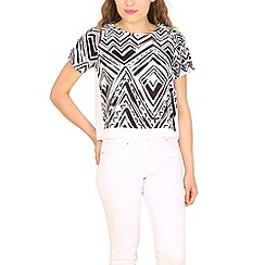 Cutie - Black aztec print top