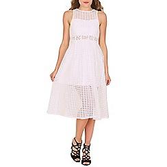 Izabel London - White plain net dress