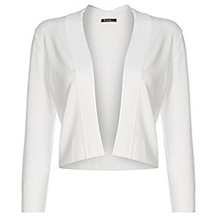 Roman Originals - White bow back shrug
