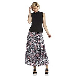 Roman Originals - Multicoloured burnout maxi skirt