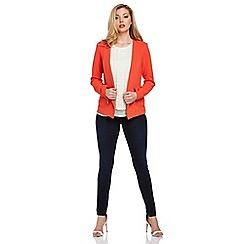 Roman Originals - Orange textured zip detail jacket