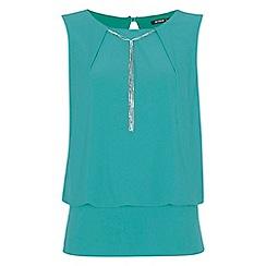 Roman Originals - Aqua pendant necklace top