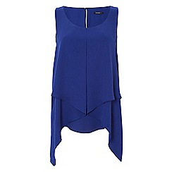 Roman Originals - Blue asymetric hem top